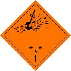 Señal peligro clase 1. Materias y objetos explosivos