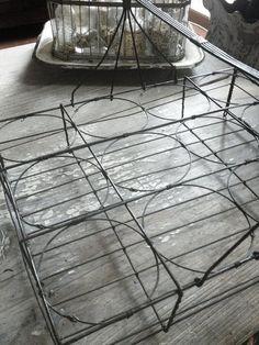 77 best old wire baskets and wirework images egg basket vintage rh pinterest com