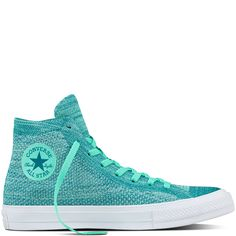 Chuck Taylor All Star x Nike Flyknit Green Glow/Rio Teal/White green glow/rio teal/white