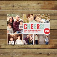 Cheers! Season's greeting card with photos