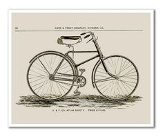 Vintage Bicycle - 1849 Art Print | Flickr - Photo Sharing!
