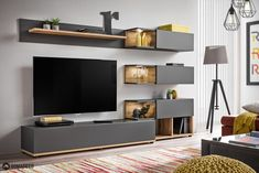 Simi - Anthracite modern entertainment center / living room wall unit Entertainment Details about Simi - Anthracite modern entertainment center / living room wall unit Living Room Wall Units, Living Room Tv Unit Designs, Living Room Modern, Living Room Decor, Tv Wall Unit Designs, Living Rooms, Tv Unit Decor, Tv Wall Decor, Tv Unit Furniture Design