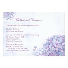Spring Wedding Rehearsal Dinner Elegant Garden Hydrangea Wedding Rehearsal Dinner Card