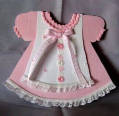 HANDMADE GREETING CARD - BABY GIRL PINAFORE CARD - Greeting Cards