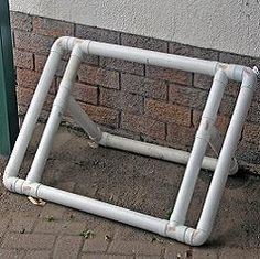 PVC bike rack and ball rack