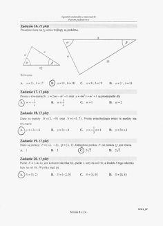 Matua 2015 PP (stara) rozwiązania 03 Math Lessons, Study, Chart, Science, Education, School, Ideas, Studying, Teacher