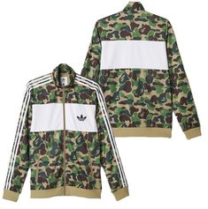 f70b30072834 ADIDAS ORIGINALS X BATHING BAPE APE GREEN CAMO FIREBIRD TRACK TOP JACKET   bape  adidas