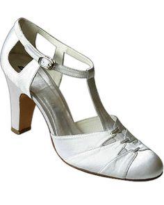 1930s dresses fashion 1930's Women's White Satin Ballroom Dance Shoes Latin T-Strap