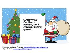 Christmas Memory Games - 1) Put the items on the Christmas tree - 18 Christmas pictures included to give plenty of choice in playing this game.. 2) Give the big/little presents to different characters - 6 big and 6 little present pictures enclosed as well as 4 characters to give them to - snowman, penguin, Santa and a reindeer.