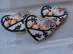 Fourth of July Love Bird Cookies Bird Cookies, Cute Cookies, Valentine Cookies, Valentines, Fourth Of July, Cookie Decorating, Summertime, Cookie Ideas, Decorated Cookies