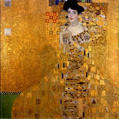 """""""Adele Bloch-Bauer I,"""" 1907. Found in the collection of the Neue Galerie New York."""
