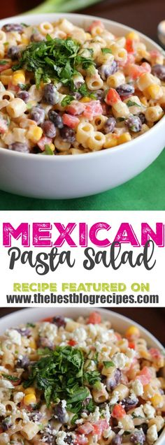 This Mexican Pasta Salad from The Recipe Critic is a delicious pasta salad covered in a creamy salsa dressing that you are going to go crazy for!