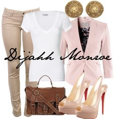 """""""Business Casual."""" by dijahhmonroe on Polyvore"""