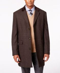 Lauren Ralph Lauren Lauren Plaid Chesterfield Overcoat - Brown/Black 42R
