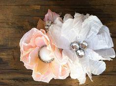 Peach flower Fascinator by StunningByDesign on Etsy,