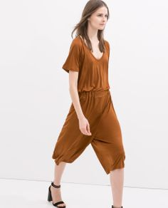 ZARA - NEW THIS WEEK - SPECIAL QUALITY JUMPSUIT WITH CUTS