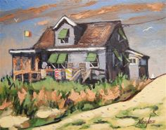 """Beach Cottage 16"" - Original Fine Art for Sale - © Kevin Larson"