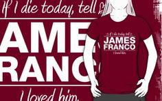 "James Franco - ""If I Die"" Series (White) by huckblade"