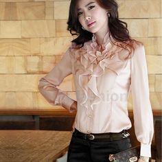 Satin Ruffle Shirt | eBay