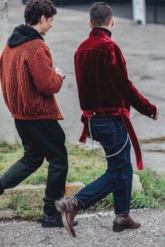 Milan Fashion Week Men's Street Style | British Vogue #FashionTrendsBoard