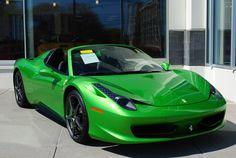 Green Ferrari 458 Spider - http://jx83395757.com/green-ferrari-458-spider-7/