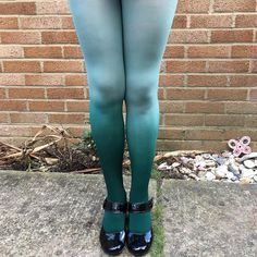SALE Kendall Mint Macaroon Green Ombre Tights - More Colours - Dip Dye - Gradient - Lingerie - Hosiery - Kawaii - Gift for Her - Costume