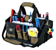 Dottie YB1529 15-Pocket 16-Inch Center Tray Tool Bag