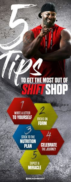 Beachbody's newest program, Shift Shop is here! Here's 5 tips to get the most out of your workout. Chris Downing // Beachbody programs // best workouts at home // fitness tips // Beachbody // Beachbody Blog