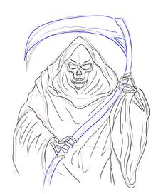 How to Draw the Grim Reaper http://www.wikihow.com/Draw-the-Grim-Reaper