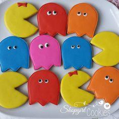 Pac man cookies for an 80's theme party! #shopgirlcookies #cookies #customcookies #cookielove #cookieartist #pinterest #sugarcookies #cookieart #decoratedsugarcookies #decoratedcookies #royalicing #instacookies  #edibleart #customdecoratedcookies #cookiesforbreakfast #cookiedecorating #sugarart #galletas #galletasdecoradas #bolachasdecoradas #biscoitosdecorados #cookiesofinstagram #80s #80scookies #pacmancookies #pacman #80sthemecookies #iheartthe80s