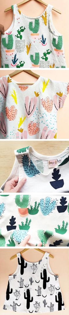 Doops Design has created a series of colorful cacti patterns on tank tops and t-shirts which are perfect for the warmer months.