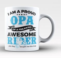 I am a proud opa of a freaking awesome rider. The perfect mug for any proud motocross opa. Available here - https://diversethreads.com/products/proud-opa-of-an-awesome-motocross-rider-mug