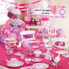 Girls Lil Cupcake 1st Birthday Ultimate Party Pack