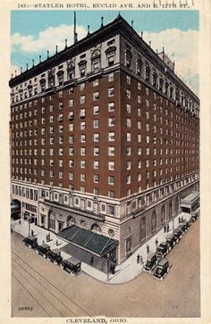 The old Statler Hotel (site of a fairly significant early mob summit). The Rock, Rock And Roll, Hotel Sites, Cleveland Rocks, History Page, County Seat, Lake Erie, Ohio, Louvre
