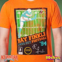 Ace Ventura Ray Finkle Video Game T-Shirt made by American Classics in collections: Non 80s Movies: Ace Ventura, & Department: Mens, & Color: Orange