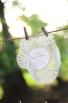 save the date doily.