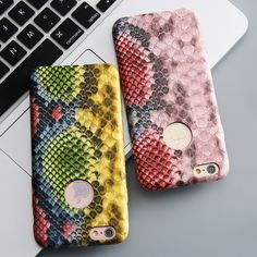 i6 4.7 Plus Original Colorful Snake Skins Cover For iPhone 6 6S For iPhone 6 + 6S Plus Slim Fashion Hard Case Mobile Phone Bags