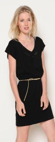 Cotton v-neck dress from Des Petits Hauts