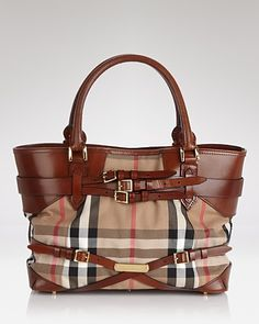 Burberry Tote - Bridle House Check Medium Lynher