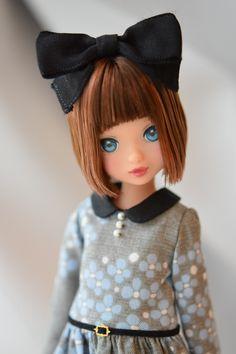 ruruko doll #momoko #petworks #dollリボン ボブ