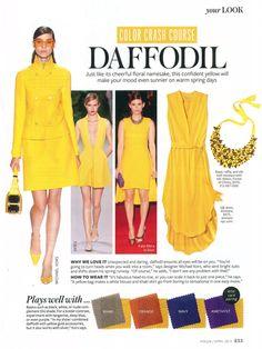 Instyle: Color Crash Course - Daffodil; Silk Addison Dress by AMMARA