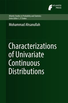 Characterizations of univariate continuous distributions / Mohammad Ahsanullah