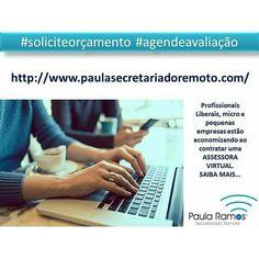 TEMPO e QUALIDADE DE VIDA precisa? A ASSESSORA VIRTUAL otimiza sua vida profissional. ACESSE: http://www.paulasecretariadoremoto.com/