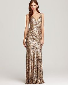 gold sequin wedding gown? why not?
