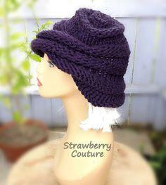 Oversized Knitting Boho Beanie Hat Boho Hat Womens Knit Hat Womens Hat Trendy Purple Hat Knit Hat Women OMBRETTA Knitting Beanie Hat by strawberrycouture by #strawberrycouture on #Etsy