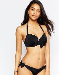 Pour Moi | Pour Moi Splash Padded Underwired Bikini Top at ASOS