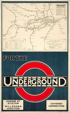 All sizes   London Underground poster, 1920   Flickr - Photo Sharing! 'Covered connection'