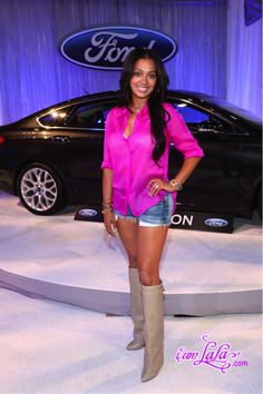 La La Anthony in Givenchy Boots
