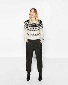 STRAIGHT CROPPED TROUSERS-NEW IN-WOMAN | ZARA United States