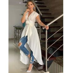 Swans Style is the top online fashion store for women. Shop sexy club dresses, jeans, shoes, bodysuits, skirts and more. Casual Chic, Casual Wear, Classy Outfits, Casual Outfits, Hijab Fashion, Fashion Dresses, Dresses Dresses, Fashion Fashion, Style Feminin